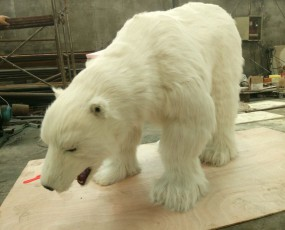 北极熊表演服