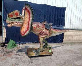 骑乘双冠龙 骑乘恐龙 恐龙租赁 仿真恐龙出售 恐龙展览