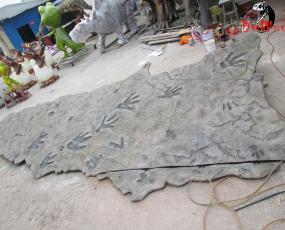 恐龙足迹化石_可定制