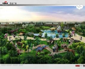 恐龙主题乐园 侏罗纪恐龙展览 设计效果图欣赏