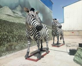 玻璃钢制品斑马  仿真斑马 仿真动物